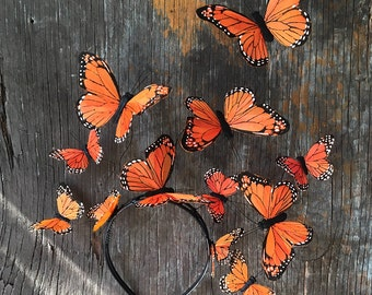 Flatternden Schmetterling Fascinator, Kopfschmuck Schmetterling, Schmetterling Kopfschmuck, Stirnband, Partei-Hut, Derby, Aussage Kopfstück