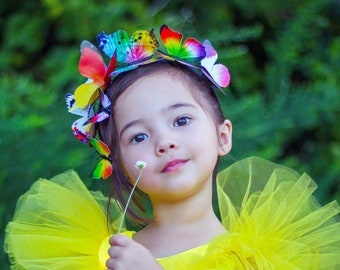 the Tropicale II child butterfly headband set