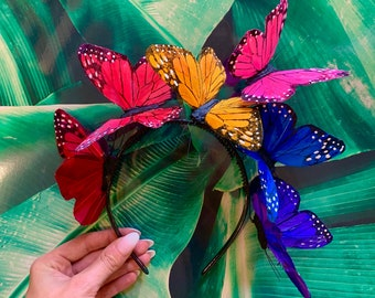Rainbow Pride Butterfly Crown