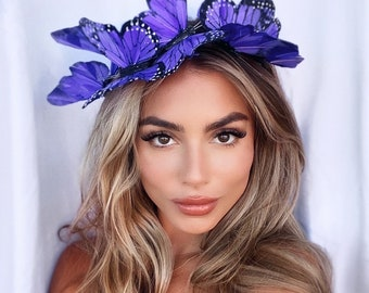 Bright Purple Butterfly Headband