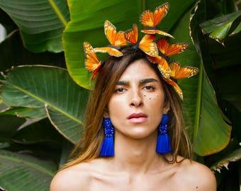 Oaxaca Orange Butterfly Headband