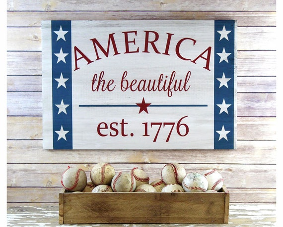Patriotic Decor 4th Of July Decorations America Sign Summer