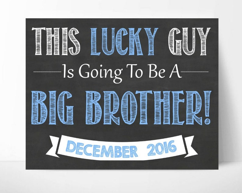 Big Brother Announcement Sibling Announcement 2nd ...