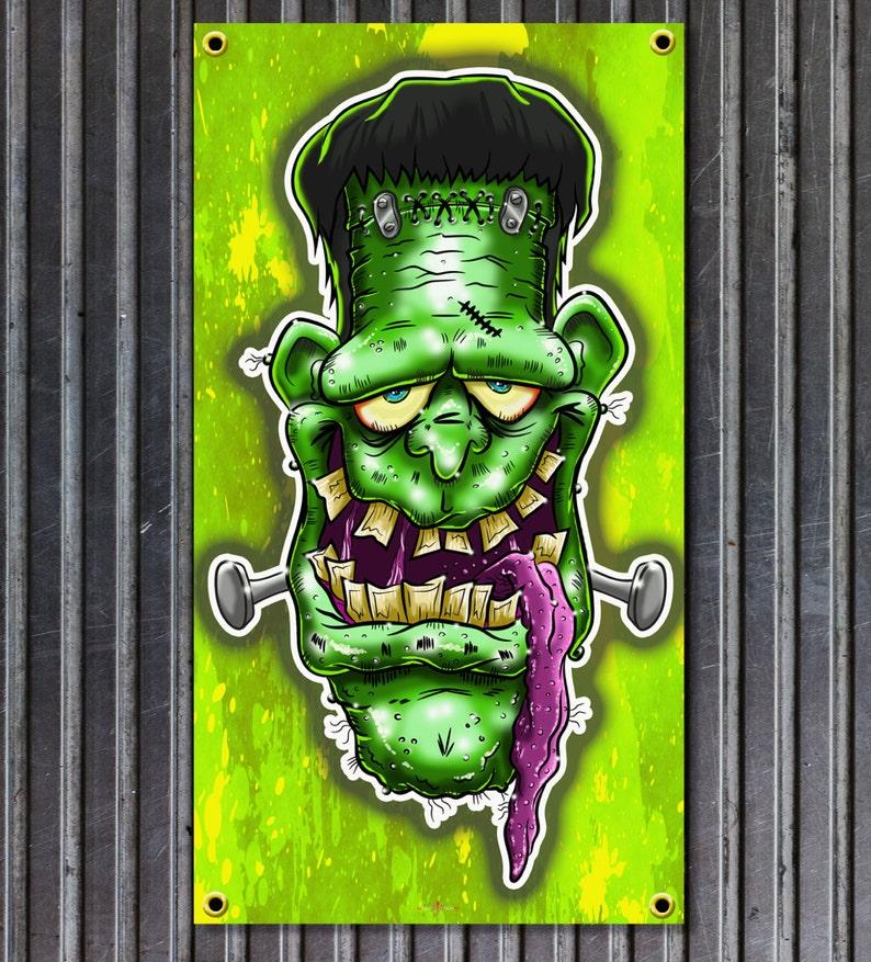 Weirdo Drag Nut Rat Fink Style vinyl garage banner Ed Roth Style