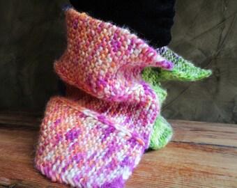 Choker knitted 100% Merino superwash