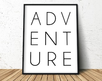 Travel Adventure Poster, Adventure Art Poster, Gift For Traveller, Adventure Awaits, Wanderlust, Extra Large Wall Art, Dorm Decor,