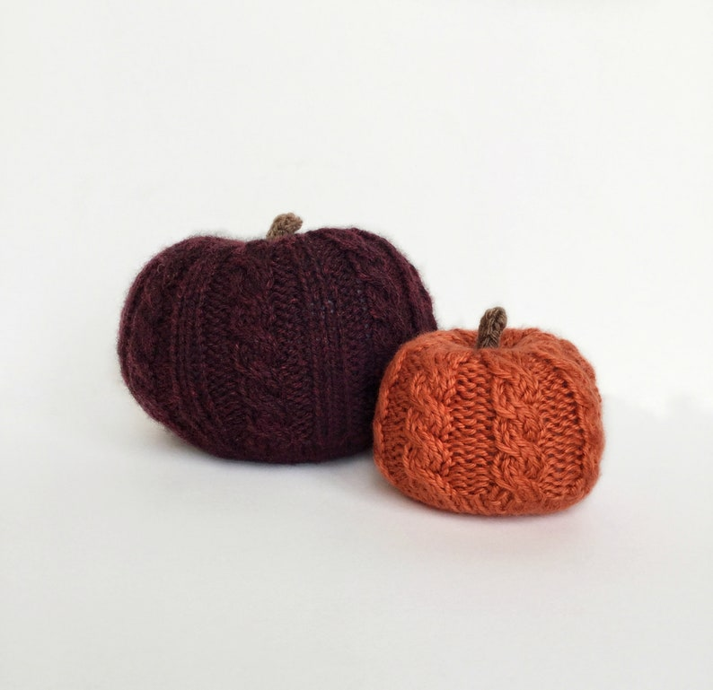 Digital Knitting Pattern Knit Pumpkins Hello Gourdgeous image 0