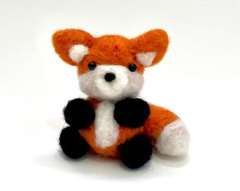Needle Felted Fox, cute, Woodland