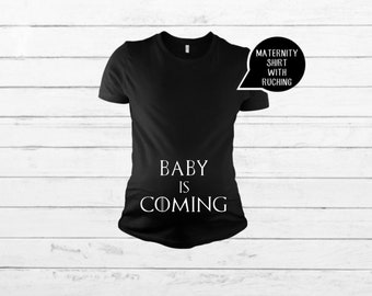 8afa75c7f104f Maternity Clothes Pregnancy Announcement Shirt Maternity Shirt Winter Is  Coming Mother Of Dragons Game Of Thrones Shirt Funny Maternity
