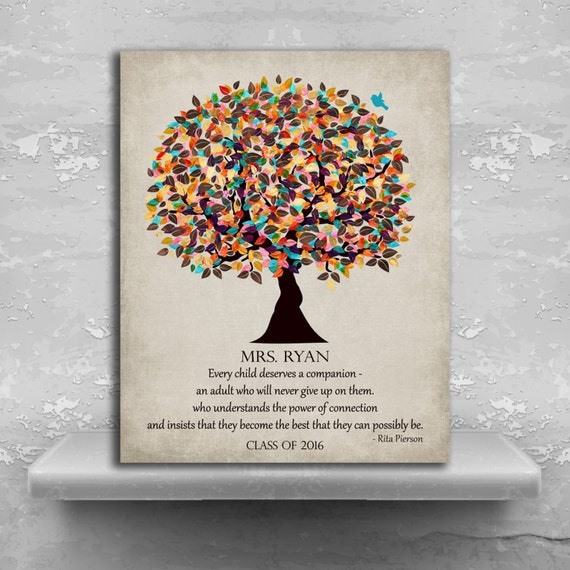 Special Teacher Gift, Personalized, Rita Pierson Quote,