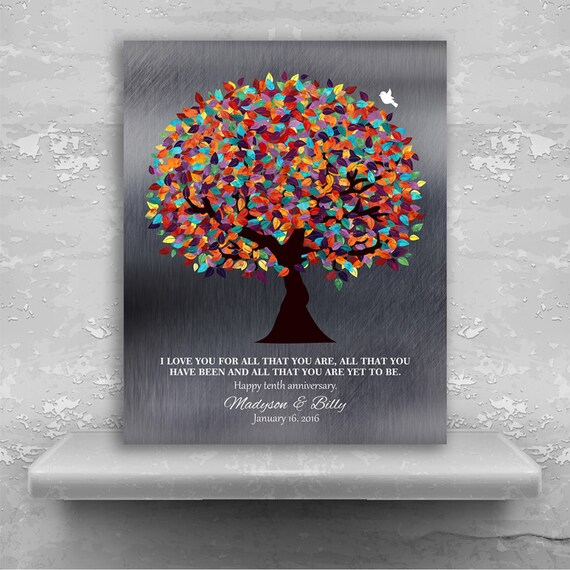 10th Anniversary Gift I Love You Gift Wedding Tree Etsy