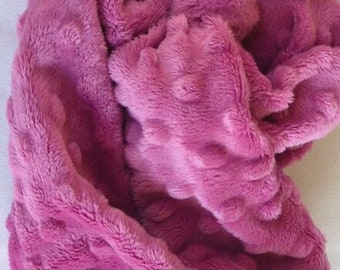 Dimple Cuddle Rasberry - hot pink, magenta,  Shannon Fabrics Cuddle Minky -Smooth Minky