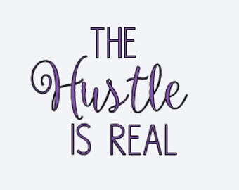 The Hustle Is Real - Car Decal - Yeti Decal - Hustle Decal - Motivational Decal - Quote Decal