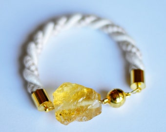 Citrine bracelet, raw crystal, raw citrine bracelet, Citrine Jewelry, November birthstone, yellow bracelet, crystal bracelet, citrine