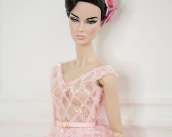 "lady pink dress for fashion royalty , Poppy Parker, Silkstone Barbie, barbie Doll , , 12"" fashion doll"