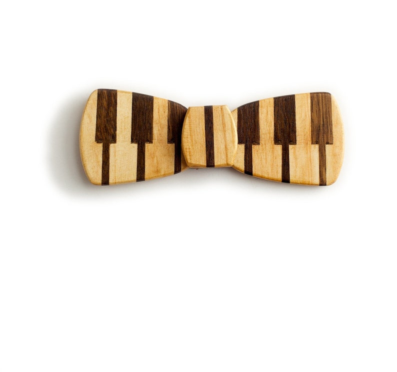 Mens Wooden Bow Tie Set Handmade Wood Bowtie with Gift Box for Anniversary Birthday