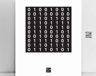 I love you in binary code, Binary Love, Binary code text, Programmer code, Personalized code, Scandinavian poster, Nordic, Modern printable