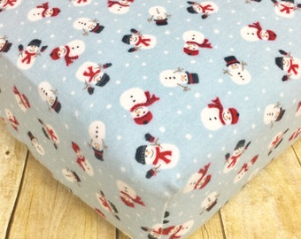 snowman flannel crib sheets holiday crib sheets christmas flannel sheets christmas toddler sheets christmas sheets baby gifts