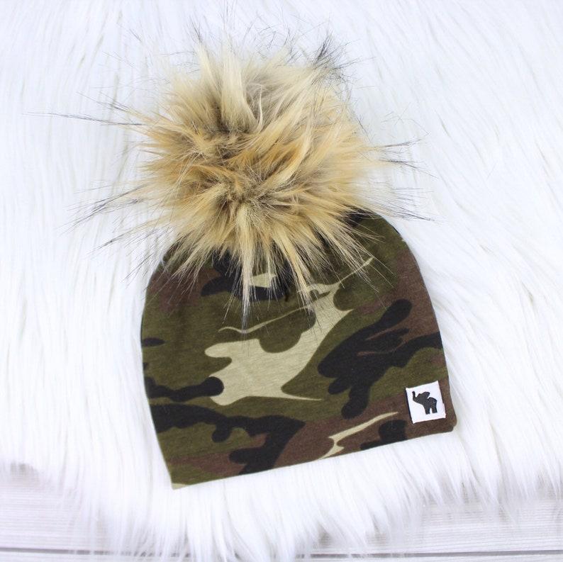 Camouflage Pom Beanie    Camo Beanie    Pom Pom Beanie     1db4e18639c