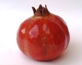 POMEGRANATE,the pomegranate,home decor,to rodi,for good luck,symbol for good fortune,fertility,symbol for health,symbol  ,hand made,ceramic