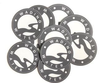 Wading Water vinyl decal, waterproof sticker, vinyl sticker, logo sticker