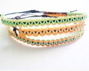 Repurposed Fly-Line bracelet, adjustable bracelet, fishing bracelet, sliding knot bracelet