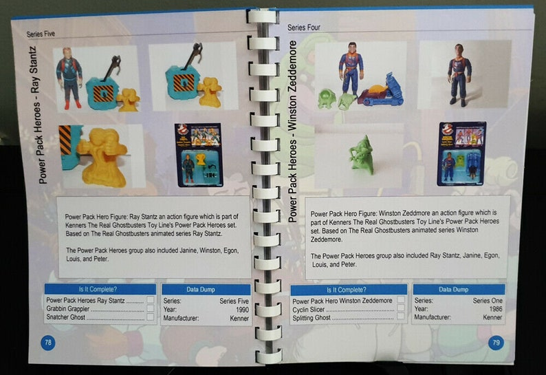 100/% Unofficial Kenner The Real Ghostbusters Collectors Guide Book