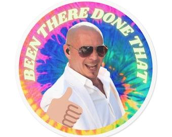 Pitbull Supports You Round Vinyl Sticker