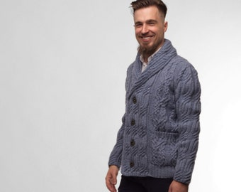 Knit Cardigan Knitted Cardigan Men's Knit Cardigan Men's Knitted Cardigan Sweater Cardigan Mens Sweater Cardigan Cable Knit