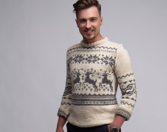 Knitted Sweater, Men's Knit Sweater, Men's Hand Knitted Pullover, Hand Made knitted Sweater, Knitted Pullover, Men's Fashion