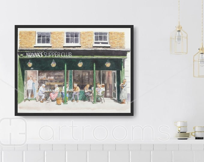 Art Print of Nonna's cafe in Tring Hertfordshire