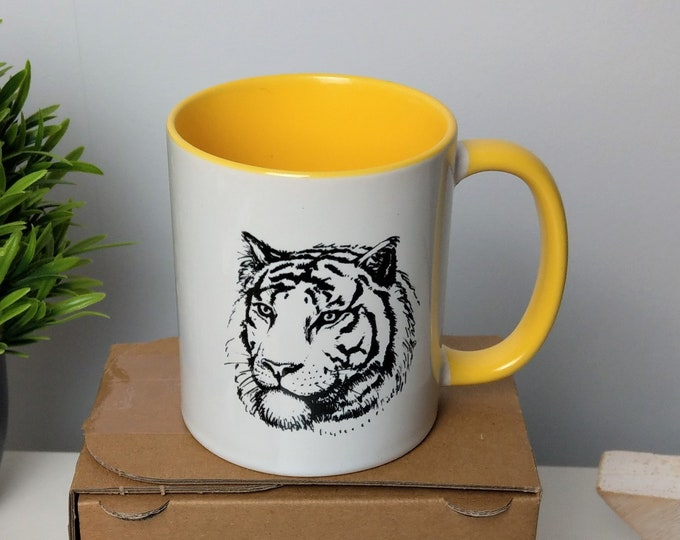 Yellow tiger mug