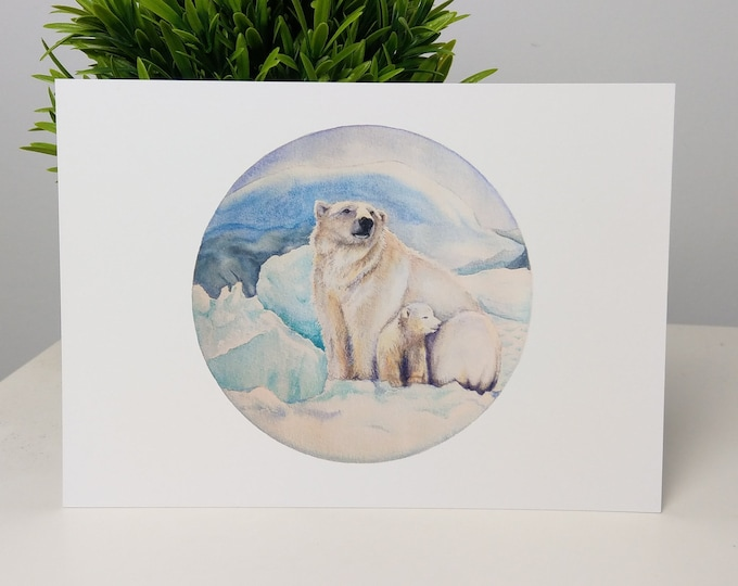 Polar bear watercolour print