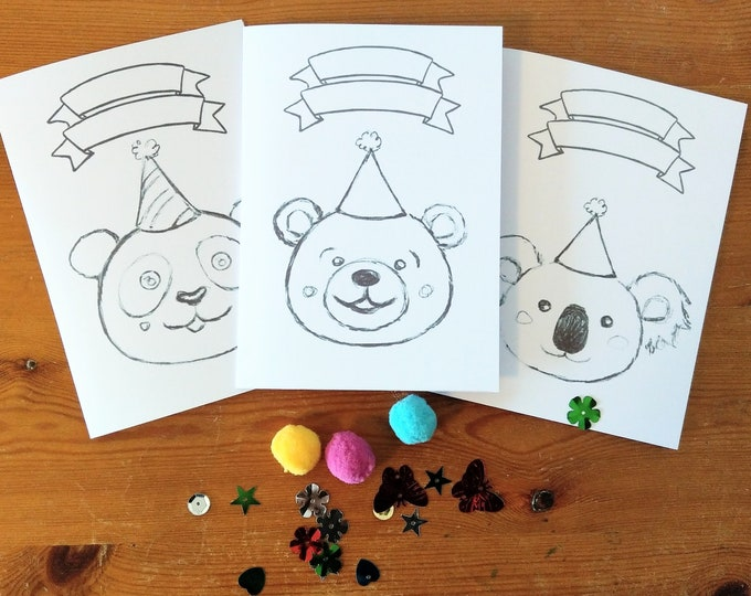 Decorate your own Bear Cards craft kit