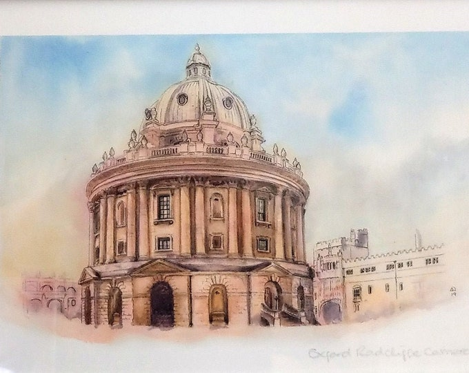 Watercolour Oxford Radcliffe Camera building print