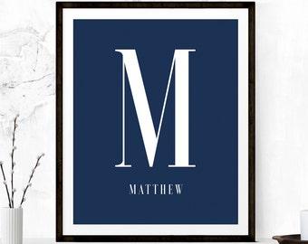 Monogram Print, Monogram Printable, Personalized Printable, Initial Printable, Monogram Art, Personalized Gift, Custom Monogram, Initial Art
