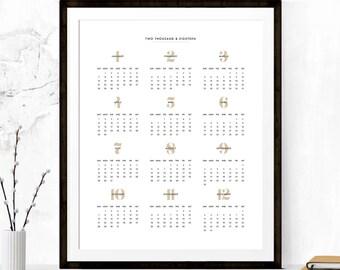 2018 Calendar, Printable Calendar,  2018 Calendar Printable, Calendar Poster, 2018 Wall Calendar, Wall Calendar, Minimalist Calendar Poster