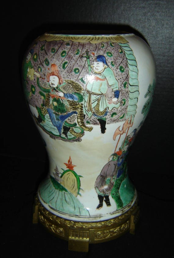 Antique Chinese Qing Dynasty Kangxi Reign Famille Verte Etsy