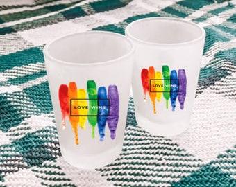LGBTQ Gift | Gift for Pride LGBTQ Pride Shot Glass Pride Shot Glass Pride Gift Lesbian Gift