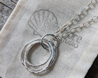 Silver nursing necklace, mama metal, gift for her, silver pendant // Oval Cluster organic sterling silver pendant // ready to ship
