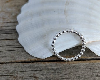 Silver stacking ring - simple band - size 7