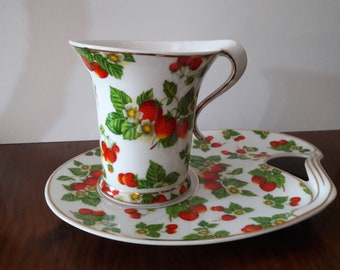 Leonardo Collection Cup and Saucer/Biscuit Plate