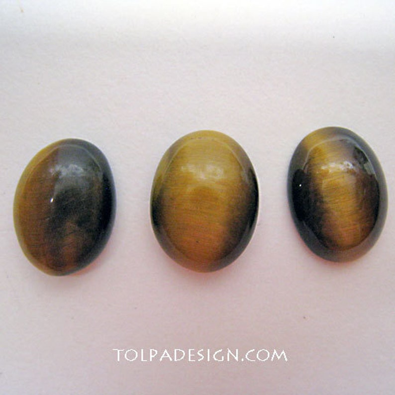 CHOICE two sizes  **  Tolpa  ** CABOCHONS ** Tiger/'s Eye Cabochons