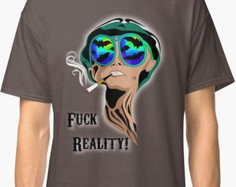 Shirt Fear and loathing in Las Vegas rainbow style, trippy Classic T-Shirt UNISEX, Rave & Psytrance Festival Style