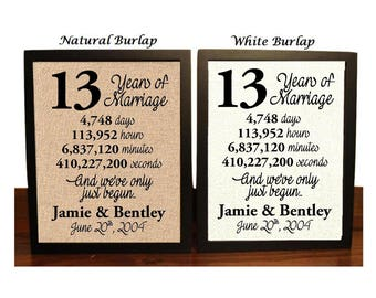 13th Wedding Anniversary | 13 Year Wedding Anniversary | 13th Wedding Anniversary Gift | 13 Years Together | Best Wedding Anniversary Gift
