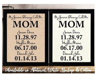 Mom Gifts Mom From Daughter Mom From Son Mom Birthday Etsy