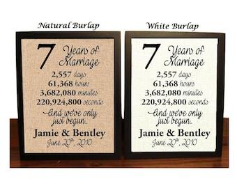 7th Wedding Anniversary | 7 Year Wedding Anniversary | 7th Wedding Anniversary Gift | 7 Years Together | Seventh Wedding Anniversary Gift
