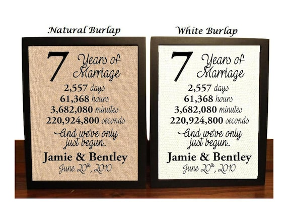 7th Wedding Anniversary 7 Year Wedding Anniversary 7th Etsy