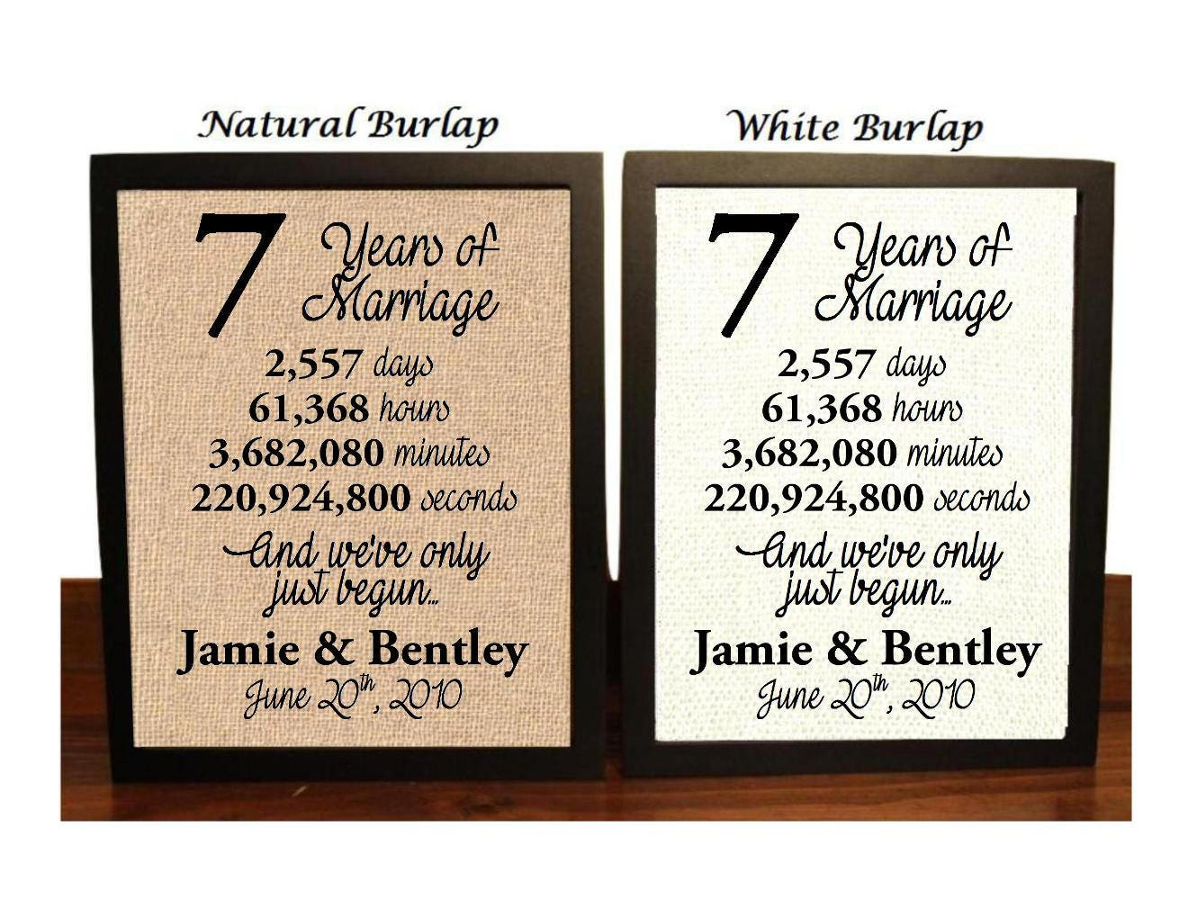 7th Wedding Anniversary 7 Year Wedding Anniversary 7th Etsy