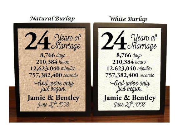 24th Wedding Anniversary 24 Year Wedding Anniversary 24th Etsy